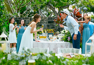 【家族挙式RESORT】ハワイのセントラルユニオン教会で家族婚!