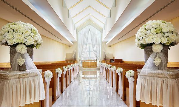 「ホテル日航奈良」の純白のチャペルで家族婚を!