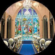 家族挙式・家族婚の素敵ステンドグラス