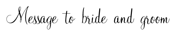 Message to bride and groom